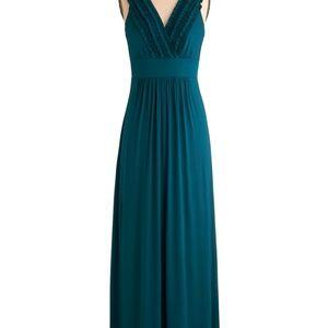 ✨ 2x HP✨ Modcloth Gilli Teal Ruffle Maxi Dress